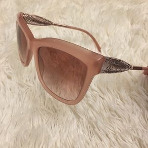 BURBERRY rose gold dusty pink sunglasses